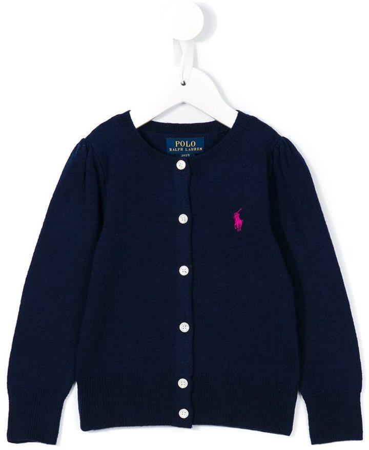 Детский темно-синий кардиган для девочке от Ralph Lauren