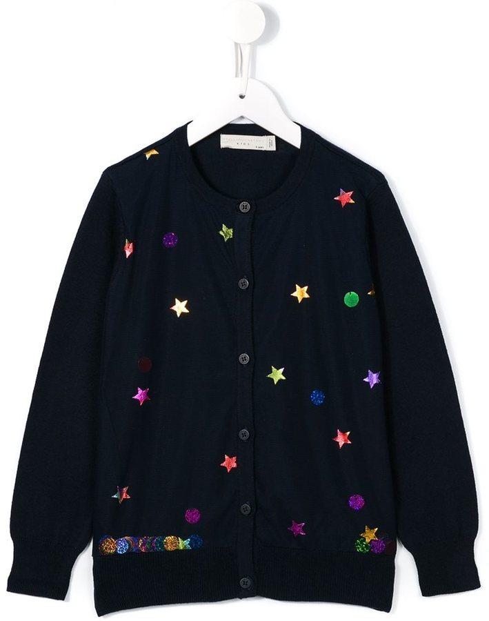 Детский темно-синий кардиган для девочке от Stella McCartney