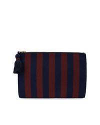 Темно-синий клатч из плотной ткани