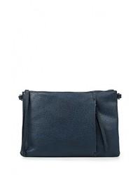 Женский темно-синий кожаный клатч от Chantal