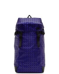 Мужской темно-синий кожаный рюкзак от Bao Bao Issey Miyake