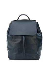 Мужской темно-синий кожаный рюкзак от Mansur Gavriel