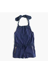 Темно-синий комбинезон с шортами