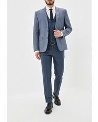 Темно-синий костюм-тройка от Absolutex