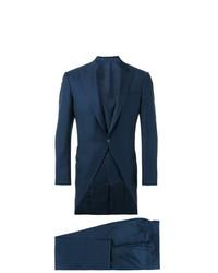 Мужской темно-синий костюм-тройка от Canali