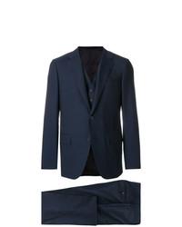 Мужской темно-синий костюм-тройка от Caruso