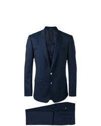 Мужской темно-синий костюм-тройка от Dolce & Gabbana