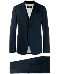 Темно-синий костюм-тройка от DSQUARED2