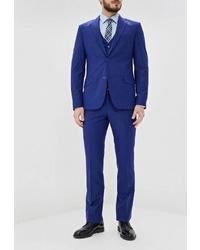 Темно-синий костюм-тройка от Patrikman