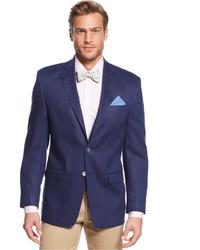 Темно-синий льняной пиджак