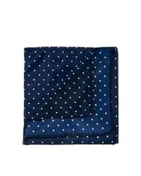 Мужской темно-синий нагрудный платок в горошек от Asos