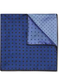 Темно-синий нагрудный платок в горошек от Lanvin