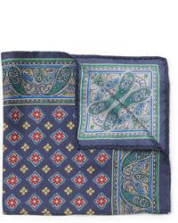 Темно-синий нагрудный платок с принтом