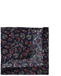 Темно-синий нагрудный платок с принтом от Asos
