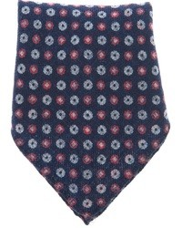 Темно-синий нагрудный платок с принтом от Ermenegildo Zegna