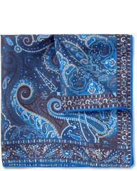 Темно-синий нагрудный платок с принтом от Etro