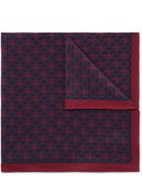 Темно-синий нагрудный платок с принтом от Gucci