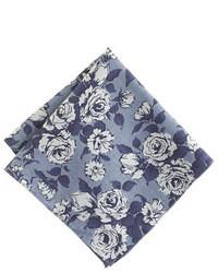 Темно-синий нагрудный платок с цветочным принтом