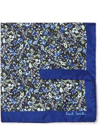 Темно-синий нагрудный платок с цветочным принтом от Paul Smith