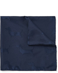 Темно-синий нагрудный платок от Thom Browne