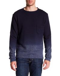 Темно-синий омбре свитер с круглым вырезом