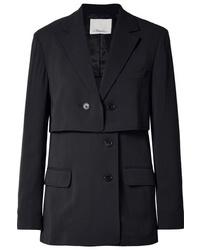 Женский темно-синий пиджак в вертикальную полоску от 3.1 Phillip Lim