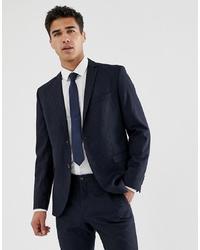 Мужской темно-синий пиджак в вертикальную полоску от Jack & Jones