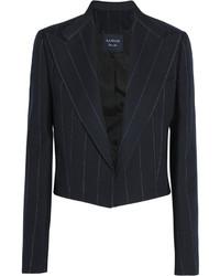Женский темно-синий пиджак в вертикальную полоску от Lanvin