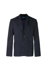 Мужской темно-синий пиджак в вертикальную полоску от Natural Selection