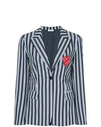Женский темно-синий пиджак в вертикальную полоску от P.A.R.O.S.H.