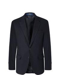 Мужской темно-синий пиджак в вертикальную полоску от Polo Ralph Lauren