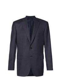 Мужской темно-синий пиджак в клетку от Brioni