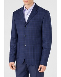Мужской темно-синий пиджак в клетку от btc