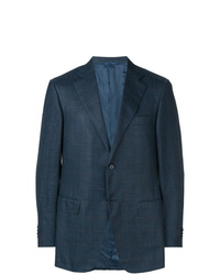 Мужской темно-синий пиджак в клетку от Canali