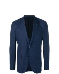 Мужской темно-синий пиджак в клетку от Ermenegildo Zegna