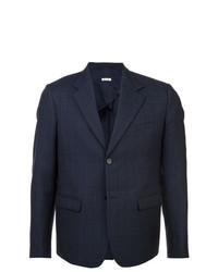 Мужской темно-синий пиджак в клетку от Marni