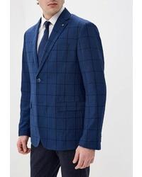 Мужской темно-синий пиджак в клетку от O'stin