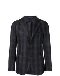 Мужской темно-синий пиджак в клетку от Tagliatore