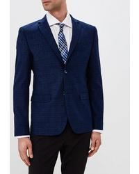 Мужской темно-синий пиджак в шотландскую клетку от STENSER