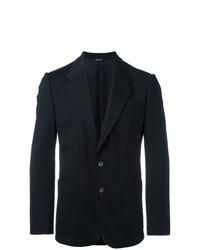 Темно-синий пиджак с вышивкой