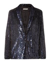 Женский темно-синий пиджак с пайетками от Alice + Olivia