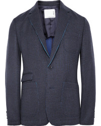 """Темно-синий пиджак с узором """"гусиные лапки"""""""