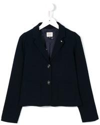 Детский темно-синий пиджак для девочке от Armani Junior