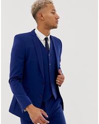 Мужской темно-синий пиджак от ASOS DESIGN
