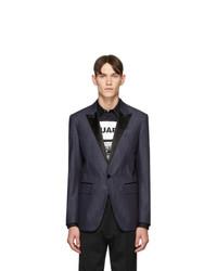 Мужской темно-синий пиджак от DSQUARED2