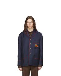 Мужской темно-синий пиджак от Gucci