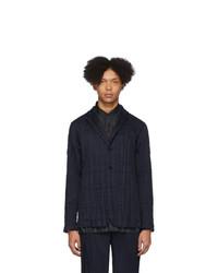 Мужской темно-синий пиджак от Issey Miyake Men