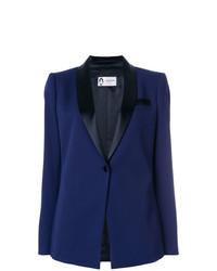 Женский темно-синий пиджак от Lanvin