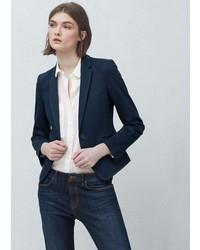 Женский темно-синий пиджак от Mango