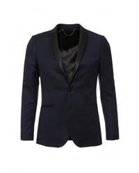 Мужской темно-синий пиджак от Topman